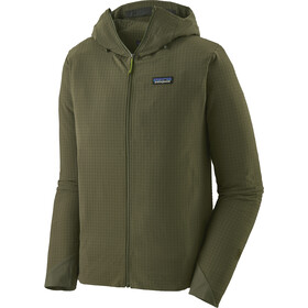 Patagonia R1 TechFace Capuchon Jas Heren, industrial green